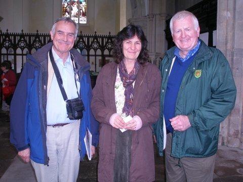 Catherine Draper with Con and Hugh